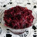 Picture of beet salad with walnuts and prunes
