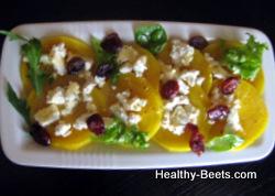 Golden beets salad