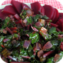 Beet and greens dish