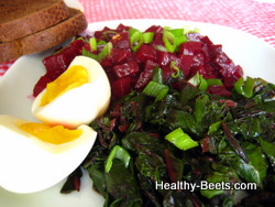 Healthy Breakfast Beet with Greens
