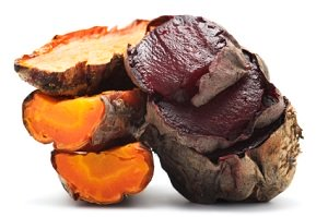 Grilled beet and carrot